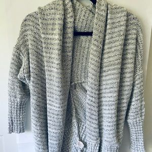Free People Open Cardigan Sweater OS Chunky Knit